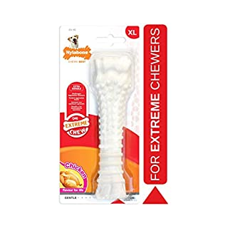 Nylabone Power Chew Flavored Durable Chew Toy for Dogs Chicken Flavor X-Large/Souper - 50+ lbs.