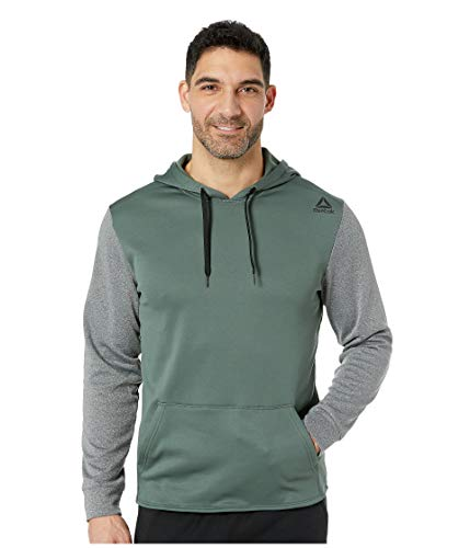 - Reebok Fleece Hood, Chalk Green/Dark Grey Heather, X-Large