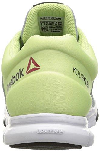 Reebok Des Femmes De Yourflex Trainette 8,0 L Mt Gris Nuage De Chaussure Cross-trainer / Zeste De Citron / Blanc / Charbon