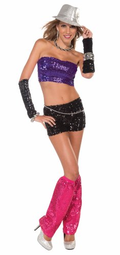 Forum Novelties Club Dazzle Sequin Tube-Top, Purple, One Size