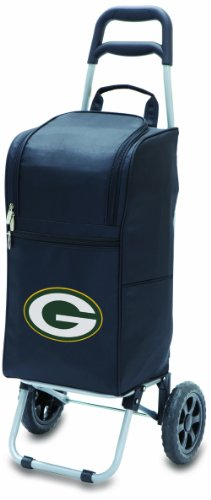 (NFL Green Bay Packers Insulated Cart Cooler with Wheeled Trolley,)
