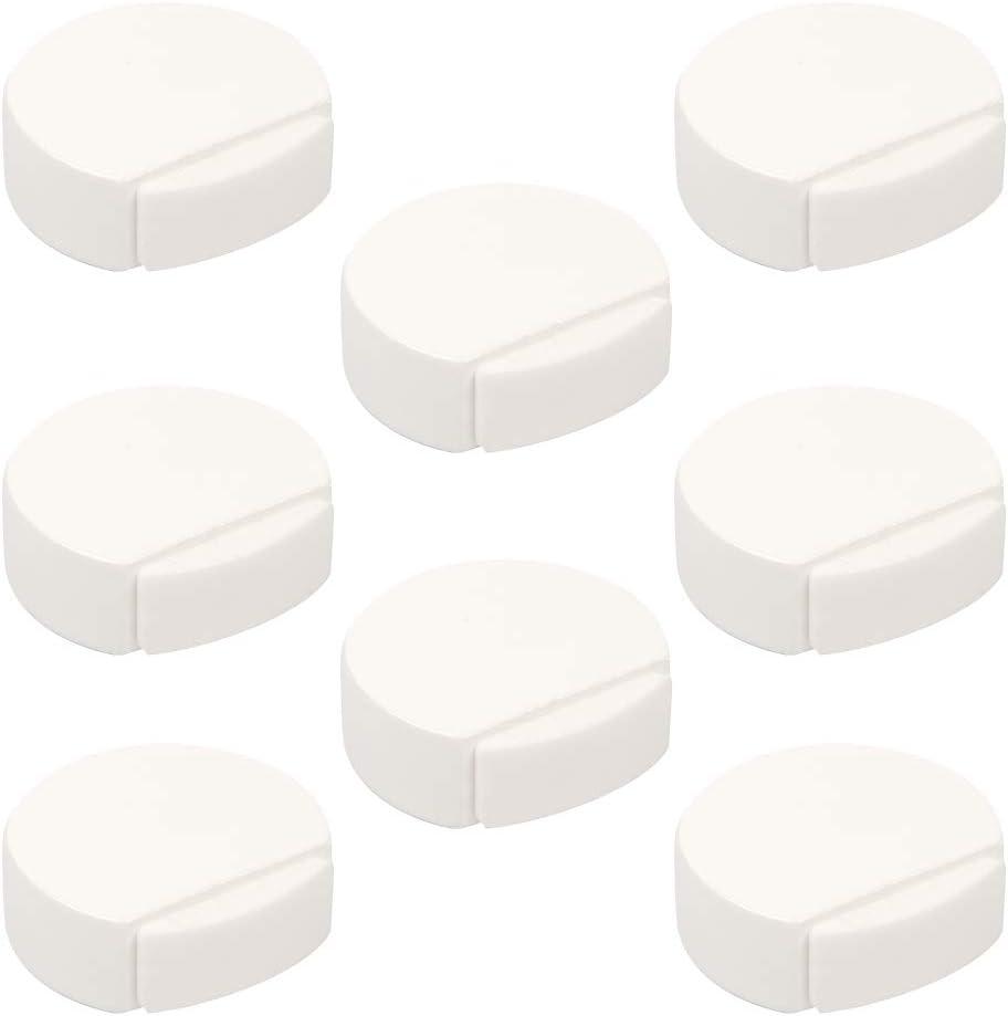 POMOLINE 8 Un. Tope Puerta Madera lacada Blanco 45x42x16MM con Adhesivo para Suelo