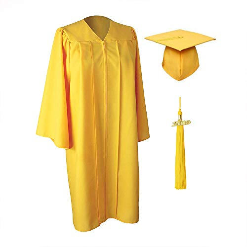 GraduationRoyal Unisex Adult Matte Graduation Gown Cap Tassel with 2019 Year Charm For High School and College Bachelor ()