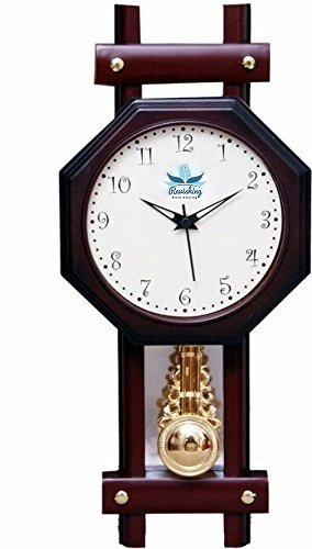 seiko wall solid clock wood amazon dp finish watches case mahogany pendulum in