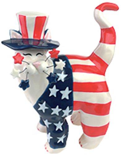 Whimsiclay Cats Yankee Doodle Kitty - Amy Lacombe