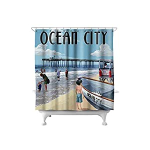 415VGPzq8iL._SS300_ 200+ Beach Shower Curtains and Nautical Shower Curtains