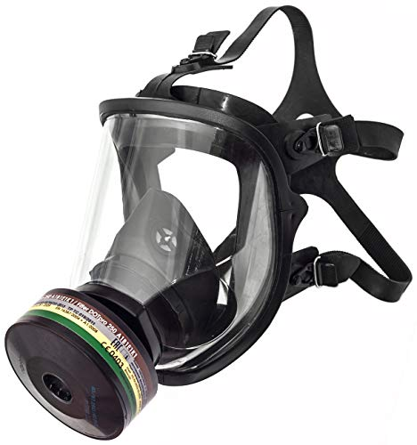 Full Face Respirator Safety Mask (Mask with cartridge)