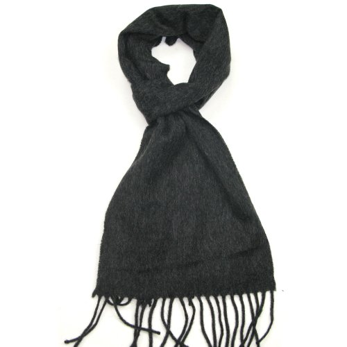 Lovarzi Charcoal Wool Scarf for Women & Men - Wool scarfs - Perfect Gift for Men