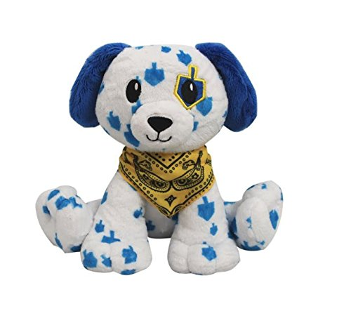 Mensch on a Bench Dreidel Dog (Hanukkah Plush)