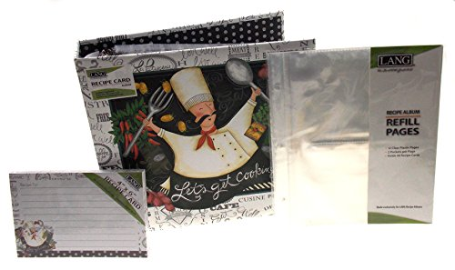 Lang Let's Get Cooking Recipe Card Album Bundled with Extra Refill Pages & Recipe Cards - Design by LoriLynn Simms