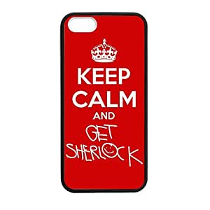 Lmf DIY phone caseKeep Calm and Get Sherlock for iphone 5c5 5s Case Cover 026127 Rubber Sides Shockproof Protection with Laser Technology Printing Matte ResultLmf DIY phone case