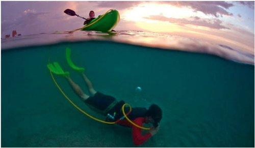 Brownie's Third Lung Kayak Diving Hose Kit 40ft