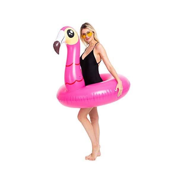 JOYIN Inflatable Flamingo and Unicorn Pool Float 2 Pack, Fun Beach Floaties, Swim Party Toys, Summer Pool Raft Lounger… 5