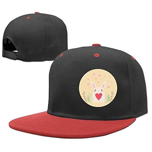 Heart Hop Baseball béisbol Red Hats Cap Boys Girl Rabbit Gorras Hip F0ZqwwI