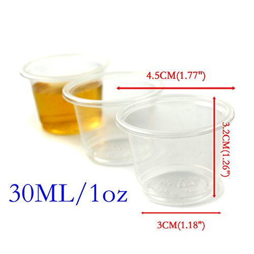 Disposable Plastic Loz Party Jelly Shot Glasses Cup