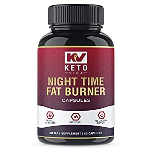 Health Shopping Keto Vida Weight Loss Fat Burner for Night Time to Suppress Appetite and Reduce Cravings; 60 Servings