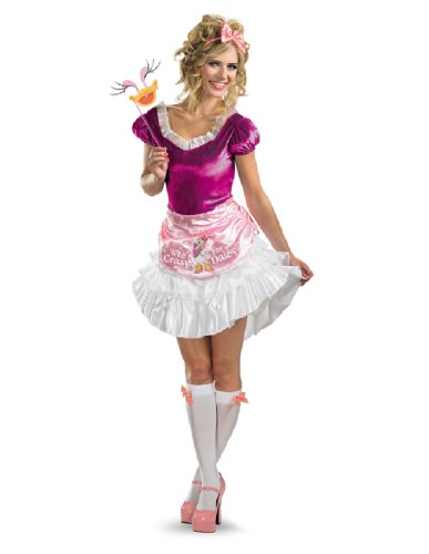[Disguise Unisex Adult Sassy Daisy Duck, White/Pink/Fuchsia, Medium (8-10) Costume] (Daisy Duck Costume)