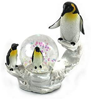 unison gifts YJF-551 4 INCH Penguin WATERGLOBE, Multicolor