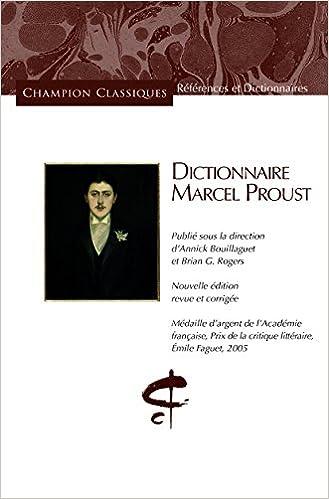 Livre DICTIONNAIRE MARCEL PROUST. pdf, epub ebook