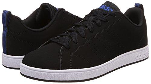 adidas Herren Advantage Clean VS Turnschuhe, Grau, Eu Black (Negbas / Negbas / Blau)