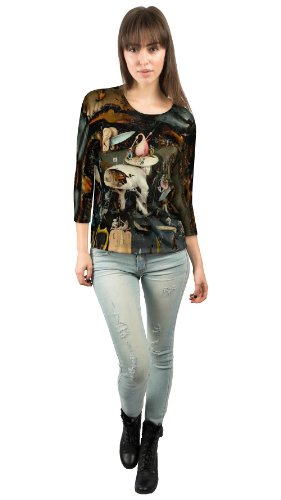 """Price comparison product image Yizzam - Bosch - """"The Garde of Earthly Deli……""""- New Ladies Womens 3/4 Sleeve-Small"""