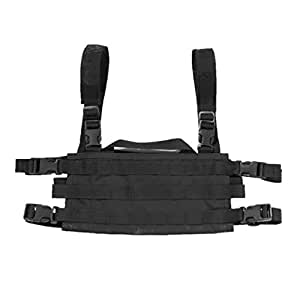 High Speed Gear AO Small Modular Chest Rig, Battle Proven & USA Made, Black