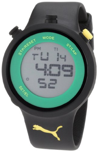 PUMA Men's PU910901007 Stainless Steel Sport Watch with Black Polyurethane Band