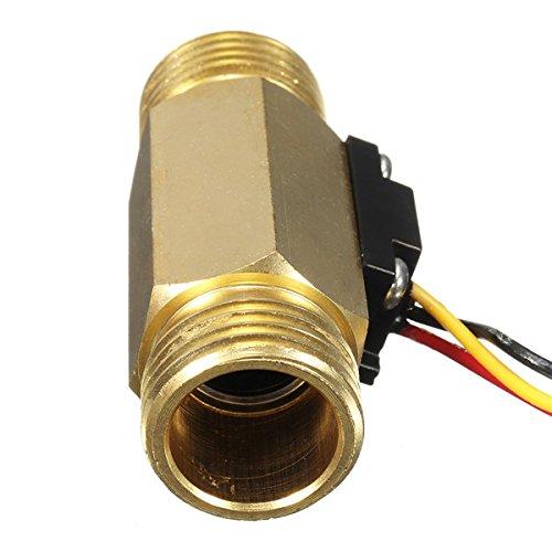 EsportsMJJ Sen-Hz21Wi Dn15 Sensor De Flujo De Agua De Cobre De 1/2 Flujo De Salida Sensor Interruptor: Amazon.es: Hogar