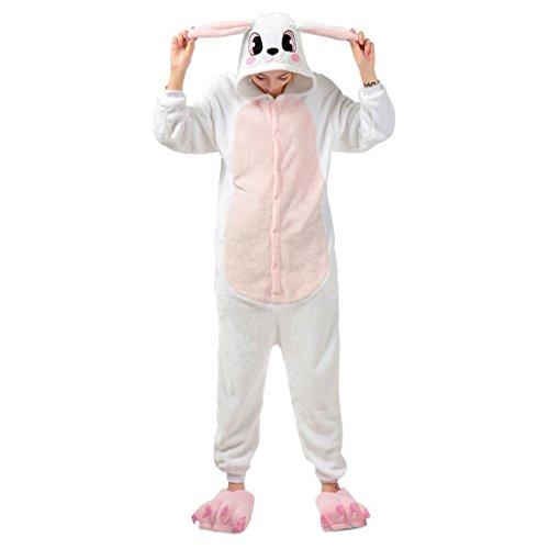 KSJK Unisex Adult Super Cute Animal Rabbit Cosplay Costume Onepiece Dress (Cute Animal Costumes For Men)