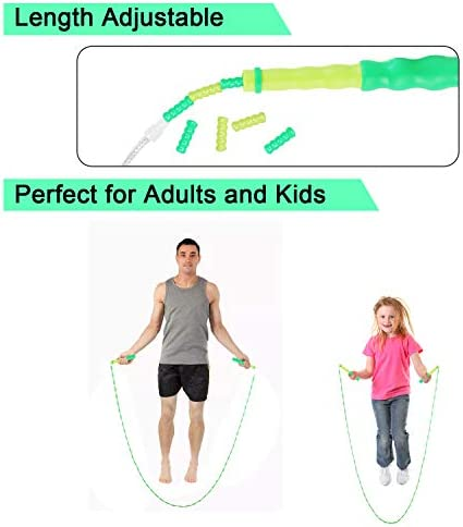 CXTSMSKT Jump Rope Adjustble Tangle Free Skipping Rope for Kids Women Men Keeping Fit Training Workout and Weight Loss (9 Feet) 2