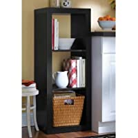 Versatile Better Homes and Gardens 3-Cube Organizer (Black)