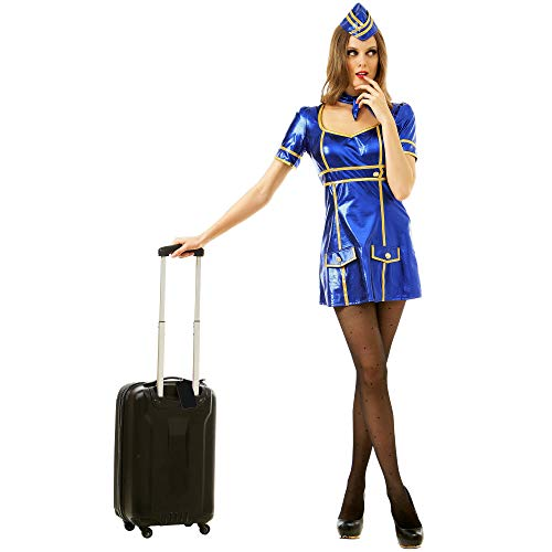 Boo Inc. Sexy Flight Attendant Halloween Costume | Adult Women Airline Lady Uniform, L]()