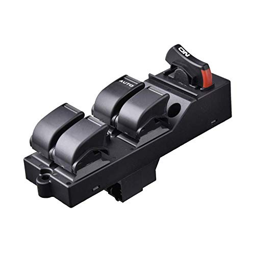 Power Window Master Switch Replace for Honda Civic CX EX HX LX Si 4 Door 96-2000 OE:83593-S04-9500 Front Left Driver Side Power Control Switch Comes with a Removal Tool (Civic 4 Door Power Window)