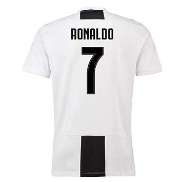 ab50f60bbd2 2018-19 Juventus Home Football Soccer T-Shirt (Cristiano Ronaldo 7 ...