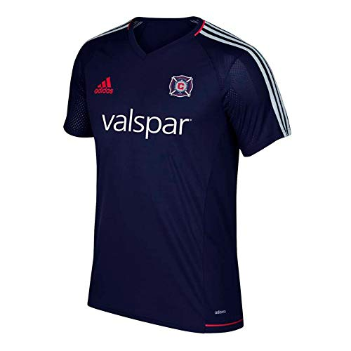 adidas Chicago Fire MLS Men's Navy Blue Climacool Training Jersey (L)