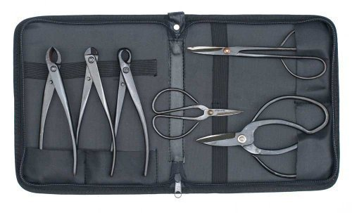 Bonsai Tool Kit - 6 Piece Set and Case. Suitable for beginners by Bonsai2u by Bonsai2u