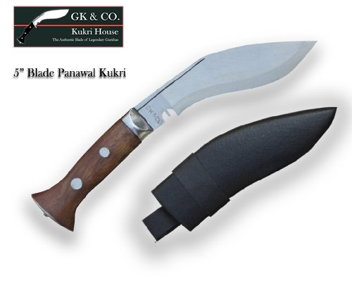 Genuine Gurkha Kukri – 5″ Blade Panawal Khukuri- Handmade in GKandCO.Kukri House Factory in Nepal, Outdoor Stuffs