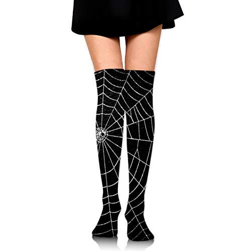 Over Knee High Tube Stockings Spider Web Long Tube Socks Compresson Socks For Women And Girls ()