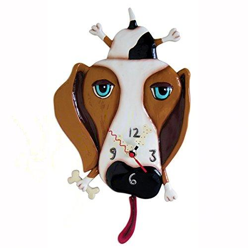 Allen Designs Studios アレンデザイン 振り子時計 掛け時計 「犬 Dog パグ」 P1160 [並行輸入品] B01DBENPAS