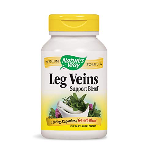 Nature's Way Leg Veins Support Blend; with Tru-OPCSTM; Vegetarian; 120 Vegetarian Capsules (Packaging May Vary)