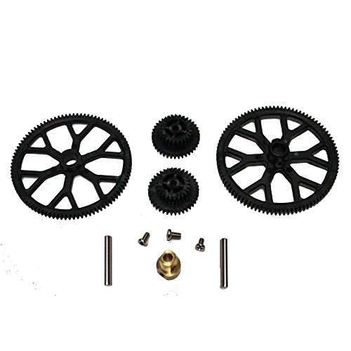 (NiGHT LiONS TECH® Top and Bottom Main Gear Set Replacement spare parts For Double Horse 9053 9101 9050 RC Helicopter)
