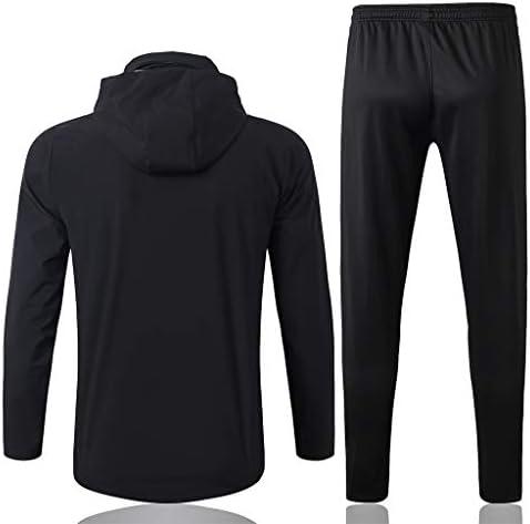 Dauerhaft Windjacke Herren Sportswear Langarm Voll Zipper Hoodys Gymnastikraum Oberteil und Hose FY0068 Beiläufig (Size : XL)
