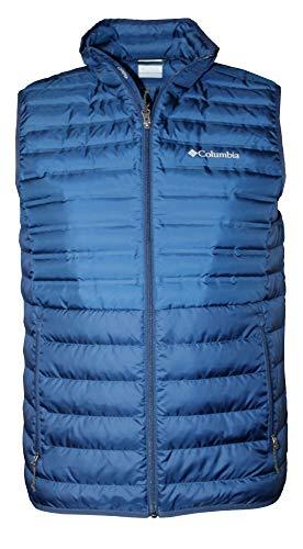 Columbia Men's McKay Lake 650 Down Lightweight Full Zip Vest (Carbon, XL)