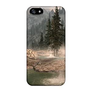 Awesome Skyrim Landscape Flip Case With Fashion Design For Iphone 5/5s