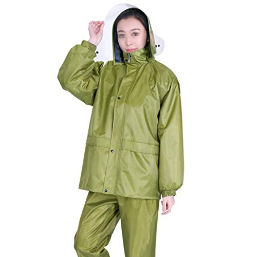 (Giow Adult Waterproof Jacket Set Lotus Leaf Water Repellent Fabric Rainproof and Windproof Breathable Three-Dimensional Hat Concealed Pocket Mountaineering Rock Climbing)