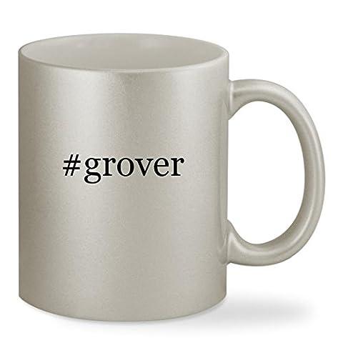 #grover - 11oz Hashtag Silver Sturdy Ceramic Coffee Cup Mug (Tag Junior Books Thomas)