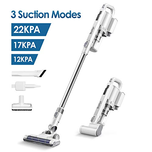 Cordless Vacuum Cleaner, Dustgo 22Kpa 3 Suction Power Modes 6 in 1 Stick Vacuum, Lightweight Handheld Vacuum Powerful Cleaning with 2500mAH Battery LED Brush, 35Min Long-lasting for Floor Pet Hair Car