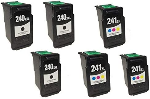5204B001/_3PK//5208B001/_3PKMP SuppliesMAX Compatible Replacement for Canon PIXMA MG-2120//3620//4220//MX-372//432//512//522 Extra High Yield Inkjet Combo Pack 3-Black//3-Color