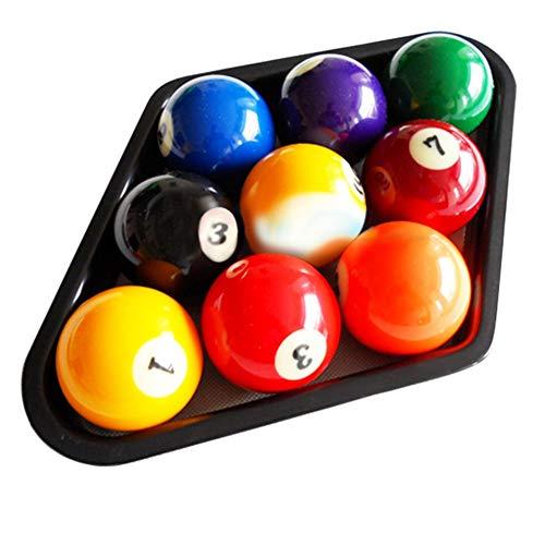 Car accessories - Billiards 9 Ball Pool Table Triangle Rack Heavy Duty Black Plastic Ball Rack Snooker & Billiard Accessories ()