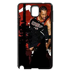Custom Allen Iverson and Signature Pattern Phone Case For Samsung Galaxy NOTE4 Case Cover RVNLI_W458156